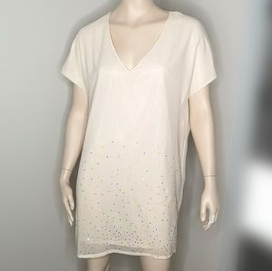 H&M Sequined V-neck Shift Dress Size 4